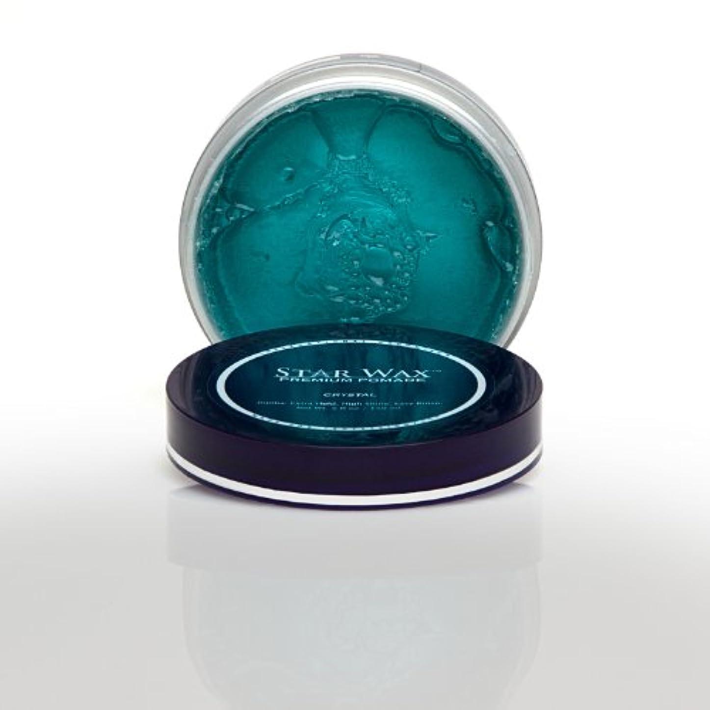 もろいスリンク服を着るStar Wax   Premium Pomade, Crystal(スターワックスプレミアム ポマード「クリスタル」)?Star Pro Line(スタープロライン)製?5(液量)オンス/150ml
