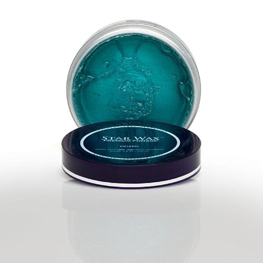 圧縮手を差し伸べる付添人Star Wax   Premium Pomade, Crystal(スターワックスプレミアム ポマード「クリスタル」)?Star Pro Line(スタープロライン)製?5(液量)オンス/150ml