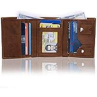 Trifold Wallet Slim Full Grain Leather Slim Handmade RFID Block