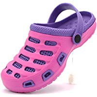 Ameta Garden Clogs Women Shoes Mules Rubber Slipper Two-Tone Slip-On Massage Insole