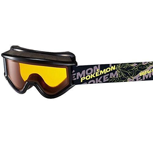 【国産ブランド】SWANS(スワンズ) 子供用 スキー スノーボード ゴーグル 8歳?12歳 ポケットモンスター PK-145DH BK ブラック/オレンジレンズ