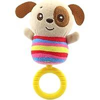 aijiaye My First Soft Rattleおもちゃ、毒性ファブリックBaby Animal Plush Soft Rattleおもちゃを0に36か月男の子女の子 123