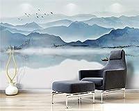 Bzbhart 3D壁紙カスタムリビングルームの背景3D壁紙風ムードインク風景写真壁画壁紙-400cmx280cm