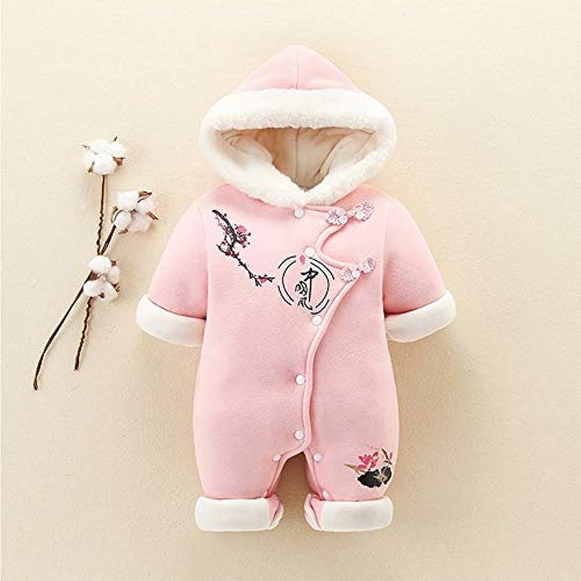 子豚関数幻影冬モデル中国スタイルの赤ちゃんのジャンプスーツ厚く暖かい綿の服登山雪のスーツのベビー服