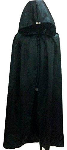 ドラキュラゴースト マント フード コスチューム 黒 Lサイズ