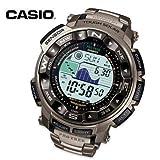 カシオ Casio ProTrek MultiBand6 AtomicSolar AnaDigi Tri Sensor Dual LCD Ti PRW2500T-7 女性 レディース 腕時計 【並行輸入品】