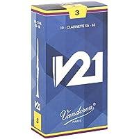バンドーレン B♭クラリネットリード V21 硬さ : 3 (10枚入り)