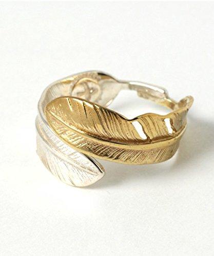 [해외]fpiu-fr-98 ZOZOTOWN 16200 엔 925silver 실버 프리 사이즈 날씬한 디자인 권 깃털 링 골드 실버/fpiu-fr-98 ZOZOTOWN 16200 yen 925silver Silver Free Size Slim Design Winding Feathering Gold Silver