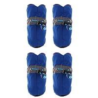 Fenteer ペット 犬 反射靴 ソフト ナイロン ノンスリップ ブーツ 4個 快適 全2色3サイズ  - ブルー, L