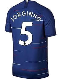 サッカー2018 チェルシーユニフォーム 上下セット JORGINHO 背番号5 JORGINHO 大人用 (大人,JORGINHO) (S)