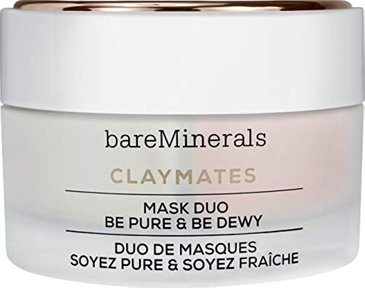 五放つおもてなしベアミネラル Claymates Be Pure & Be Dewy Mask Duo 58g/2.04oz並行輸入品