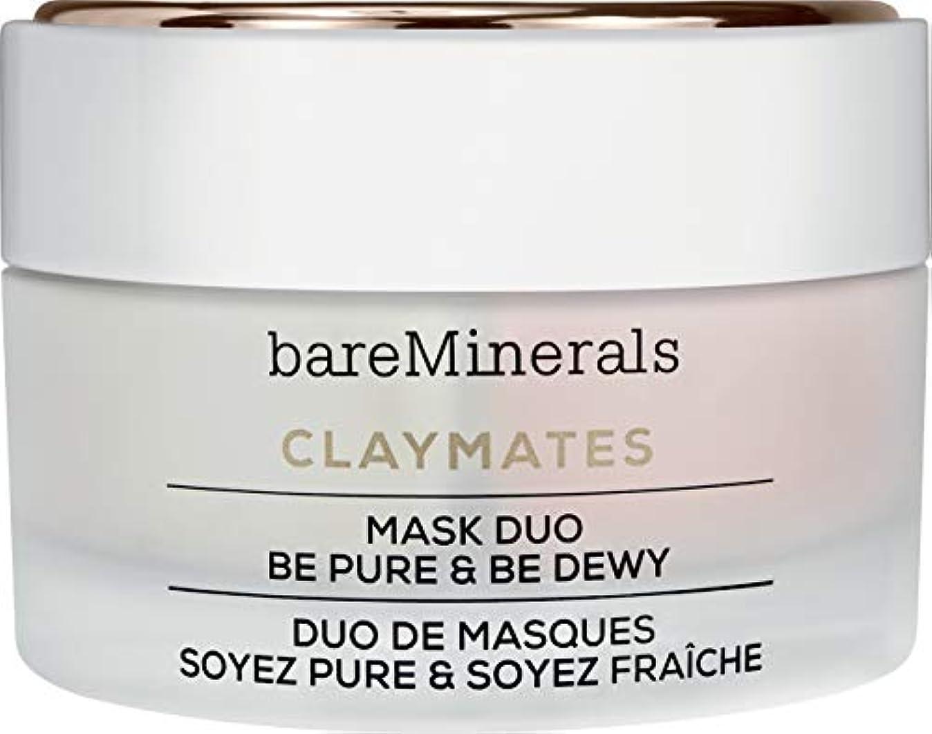 葉を集めるフォルダ剥離ベアミネラル Claymates Be Pure & Be Dewy Mask Duo 58g/2.04oz並行輸入品
