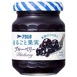 アヲハタ まるごと果実 ブルーベリー 125g瓶×12個入×(2ケース)