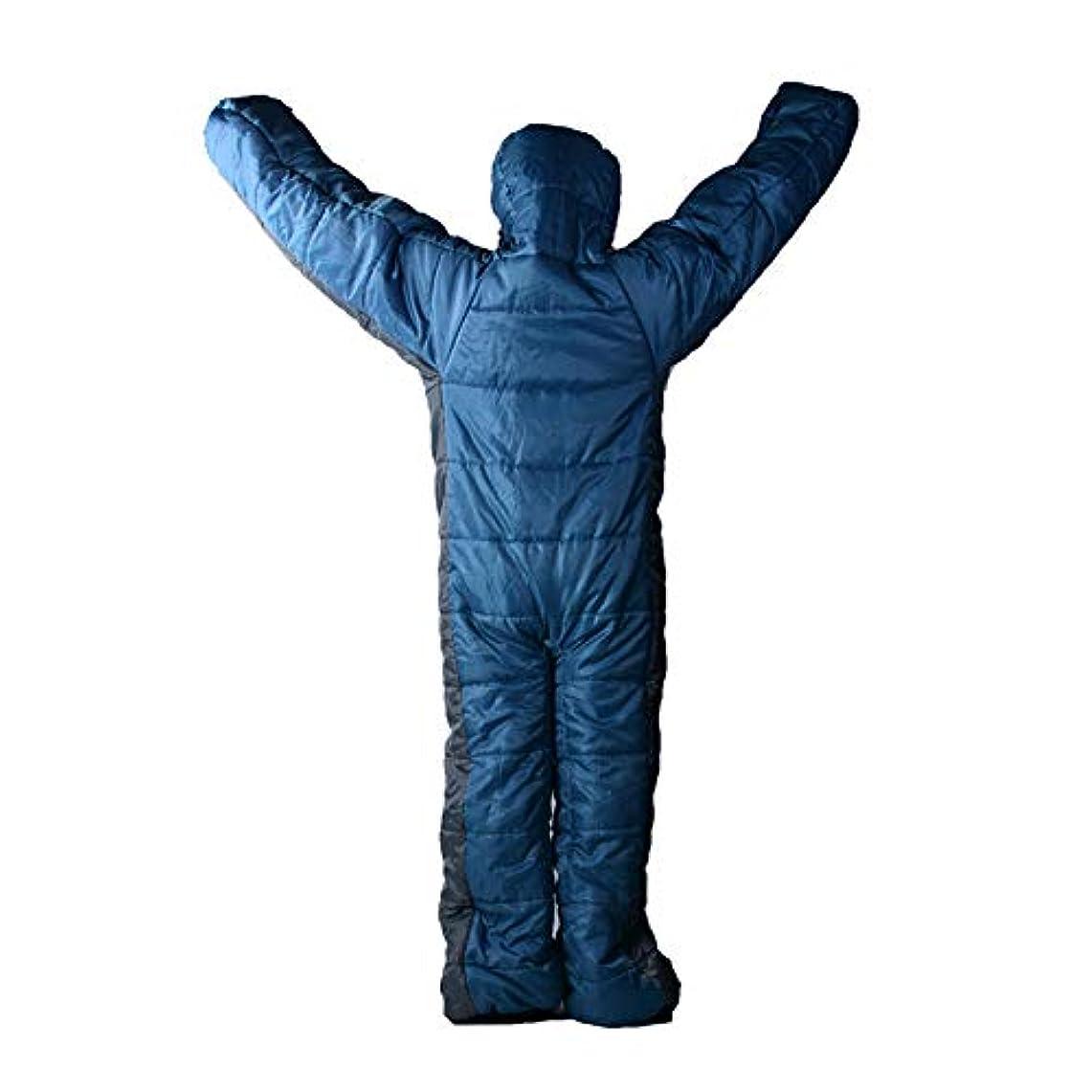 複製些細お気に入り人型寝袋 歩ける寝袋 あったか 防寒 撥水加工 車中泊 キャンプ 冬用 身長150-170cm対応可能 男女兼用