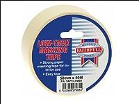Faithfull TAPELTM50 Low Tack Masking Tape 50 x 50m