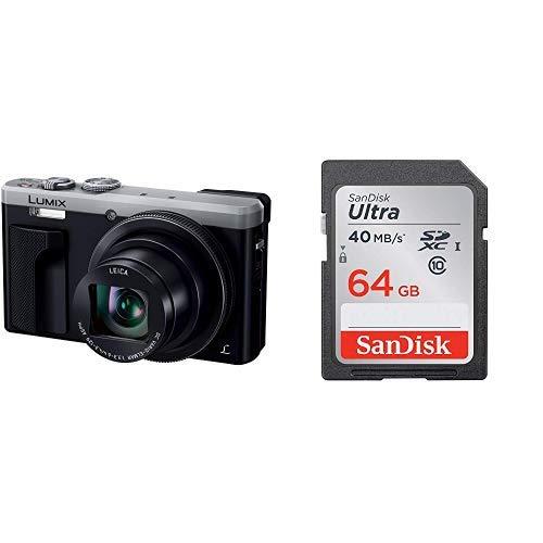 パナソニック コンパクトデジタルカメラ ルミックス TZ85 光学30倍 シルバー DMC-TZ85-S + 64GB SDカードセット