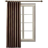 (コットンツリー) CottonTree 一級遮光 カーテン 1枚入 アジャスターフック付き 形状記憶 スタイル ブラウン 幅100cm丈110cm