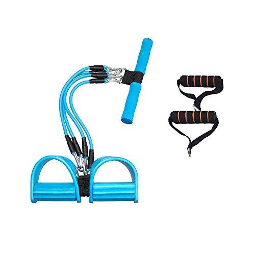 4管調節型 フィットネスチューブ トレーニングチューブ 腹筋 トレーニング 自分の筋力にあわせて調節できる...