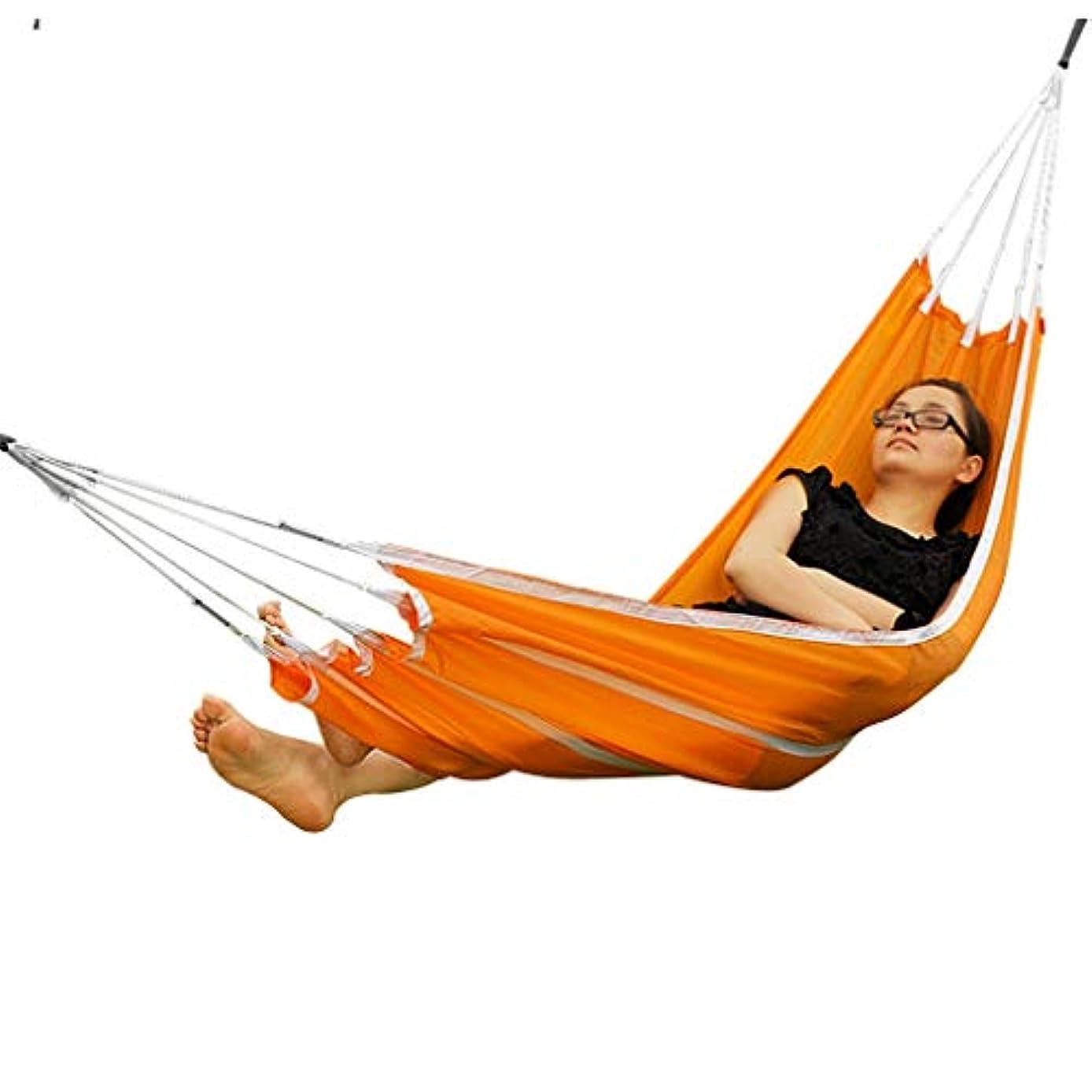 ピストンライフル昆虫ハンモック ハンモックガーデンハンモック アウトドアキャンプスイングハンモック 屋内シングルレジャーハンモック ポータブル簡単収納 耐荷重90kg (Color : Orange, Size : 190*72cm)