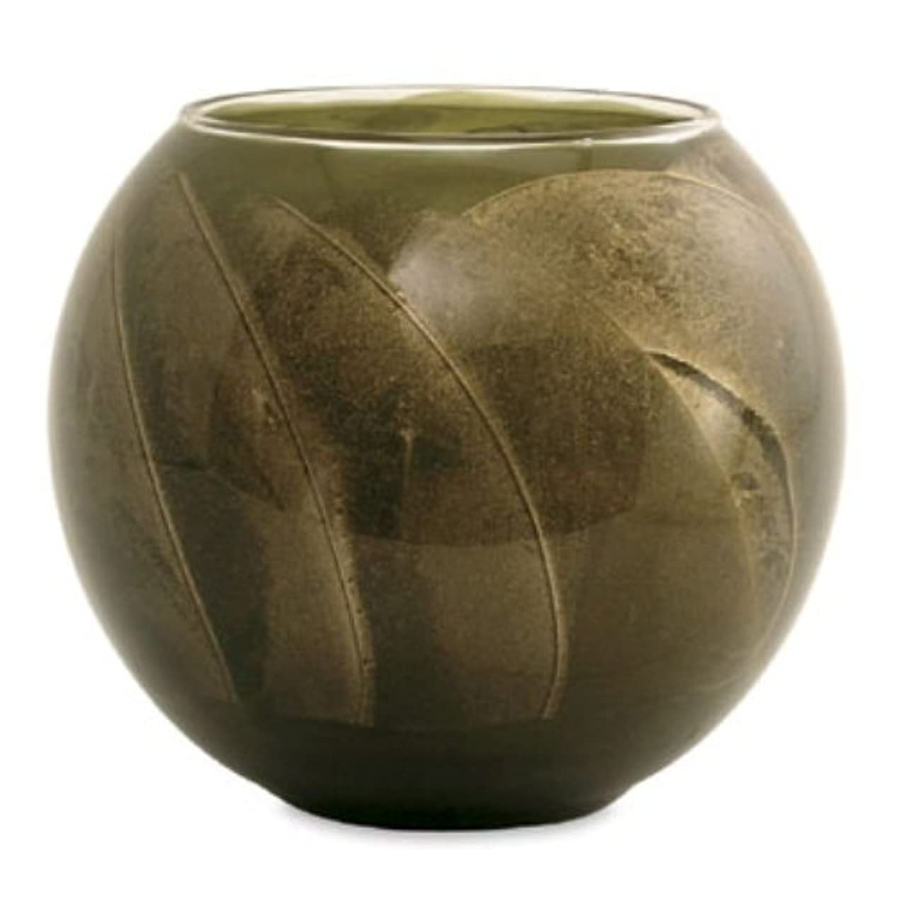 一貫性のない奨励します祭司Northern Lights Candles Esque Polished Globe - 4 inch Olive by Northern Lights Candles [並行輸入品]