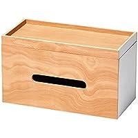イデアコ ルーフペーパーボックス ローションティッシュ or ロールキッチンタオル or ティッシュボックス ×2が入る ホワイト