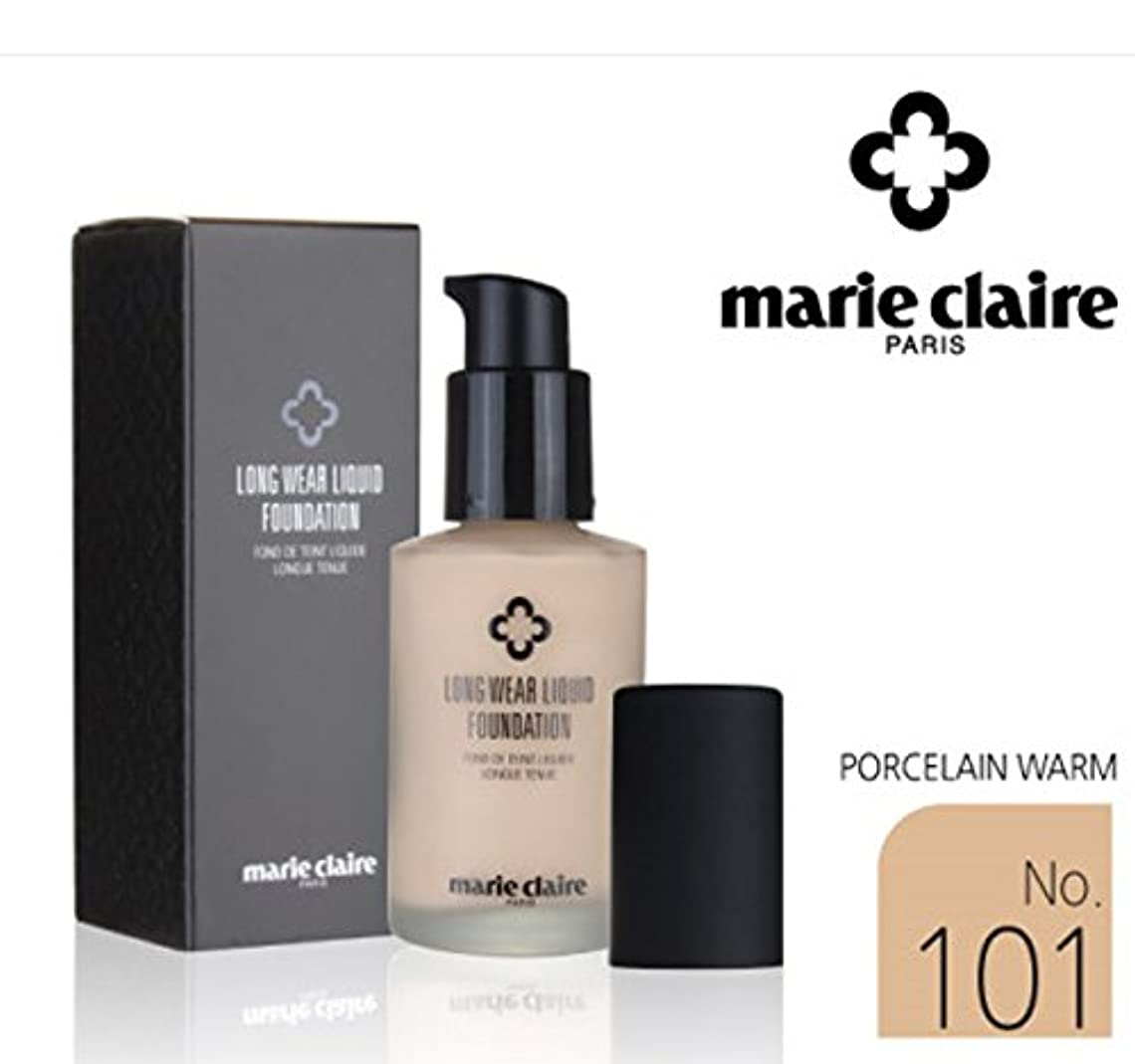 服鉛筆詩[Marie Claire] ロング着用リキッドファンデーションSPF31 PA++30ml / Long Wear Liquid Foundation SPF31 PA ++ 30ml / NO.101 Porcelain Worm / NO.101磁器ワーム / 美白、シワ、紫外線 / whitening, wrinkles, UV ray / 韓国化粧品 / Korean Cosmetics [並行輸入品]