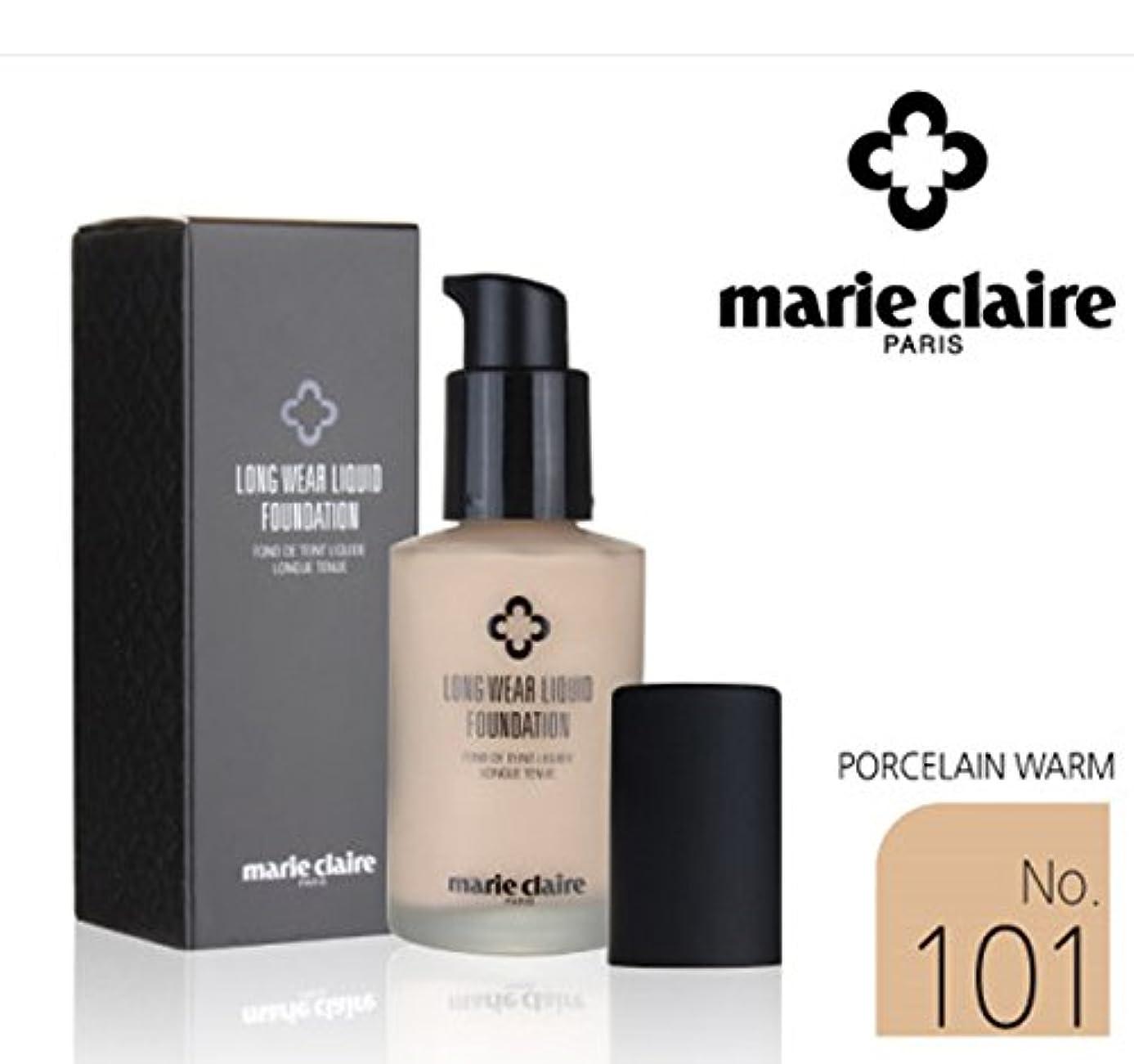算術戦士安らぎ[Marie Claire] ロング着用リキッドファンデーションSPF31 PA++30ml / Long Wear Liquid Foundation SPF31 PA ++ 30ml / NO.101 Porcelain...