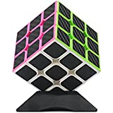 Wings of wind - Carbon Fiber Stickers Magic Cube Ultra-Smooth Magic Puzzle Cube Colorized Sticker Cube (3x3)