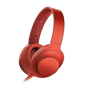 SONY h.ear on 密閉型ヘッドホン ハイレゾ音源対応 リモコン・マイク付 折りたたみ式 シナバーレッド MDR-100AAP/R (MDR-100A/Rの海外版) [並行輸入品]
