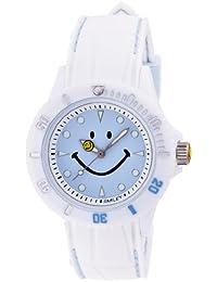[スマイリー]SMILEY 腕時計 ステッチシリコン ホワイト×ライトブルー WC-HBSIL-WBL 【正規輸入品】