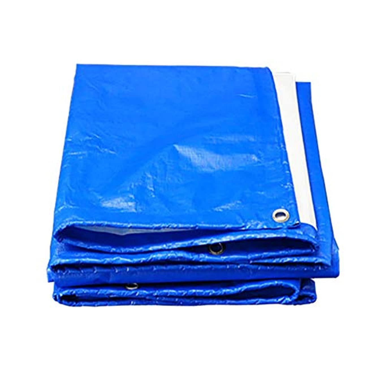 曲流用するメッシュWCH 防水ターポリン日焼け止めトラック屋外テント布厚手の防水シート - ブルーホワイト180g / m 2