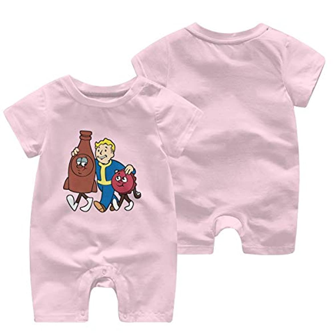 ディスクなめるディスカウントFallout 4 Vault Boy Tシャツ メンズ シャム服 ベビーウェア カバーオール 綿 無地 Tシャツ 丸ネック 半袖カットソー 柔らかい 部屋着 カラー クロールの服 赤ちゃん オシャレ 祝い