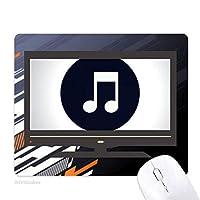 白の2倍に8分音符音符 ノンスリップラバーマウスパッドはコンピュータゲームのオフィス