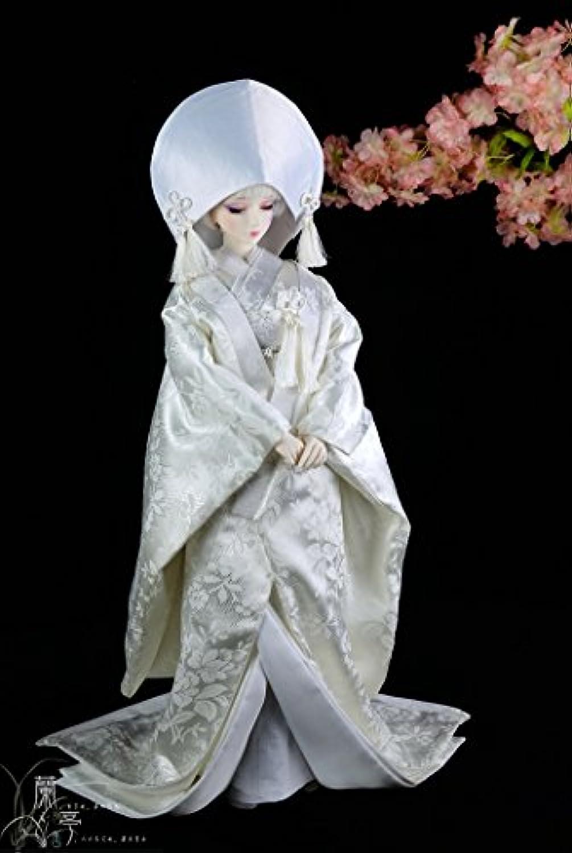 1 / 4 MSDガールBJD人形ドレス/着物日本スタイルドレススーツ衣装/ BJD / Japanese花嫁ウェディングドレス。。。
