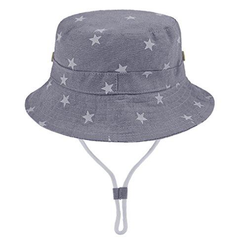 キッズ 日除け帽子 バケットハット 赤ちゃん 帽子 つば広 ...