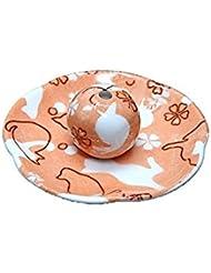 ねこランド オレンジ 花形香皿 お香立て ネコ 猫 ACSWEBSHOPオリジナル