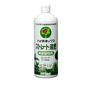 ハイポネックス ストレート 液肥 観葉植物用 600ml