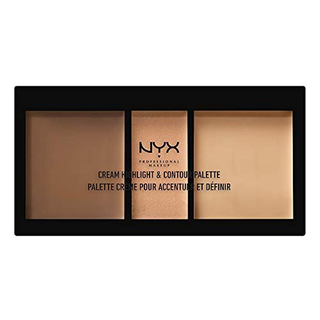 NYX(ニックス) クリーム ハイライト&コントゥアー パレット 02 カラー?ミディアム フェイスパレット