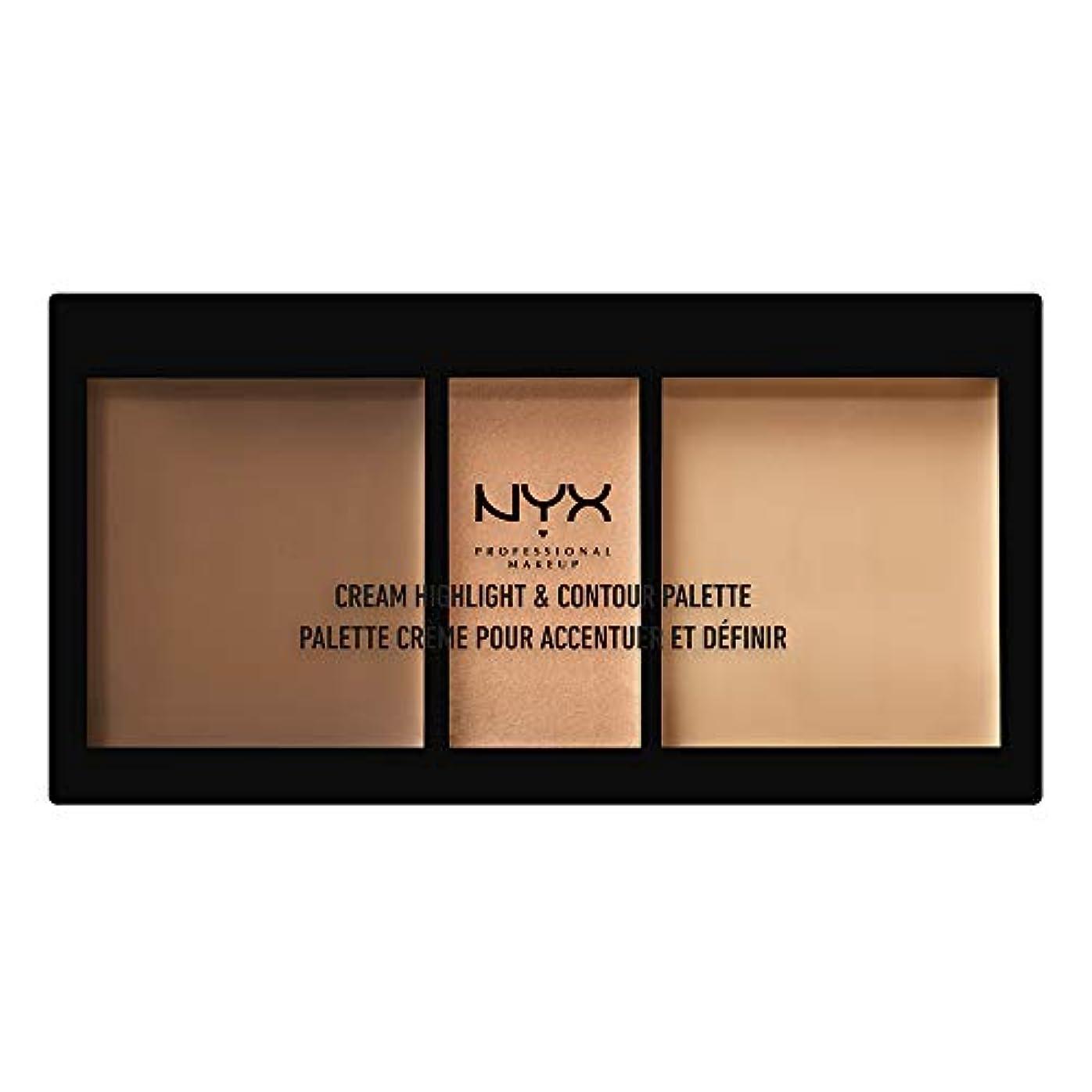手つかずの入射埋め込むNYX(ニックス) クリーム ハイライト&コントゥアー パレット 02 カラー?ミディアム フェイスパレット