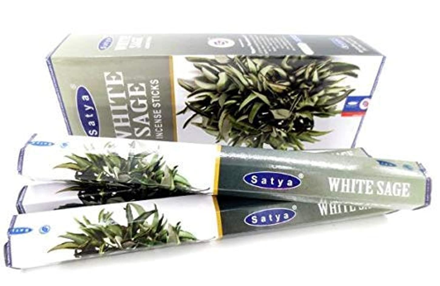 統合騙すバックWhite Sage Incense Sticks | 6 Packs x 20 Sticks | Box of 120 Sticks | Export Quality