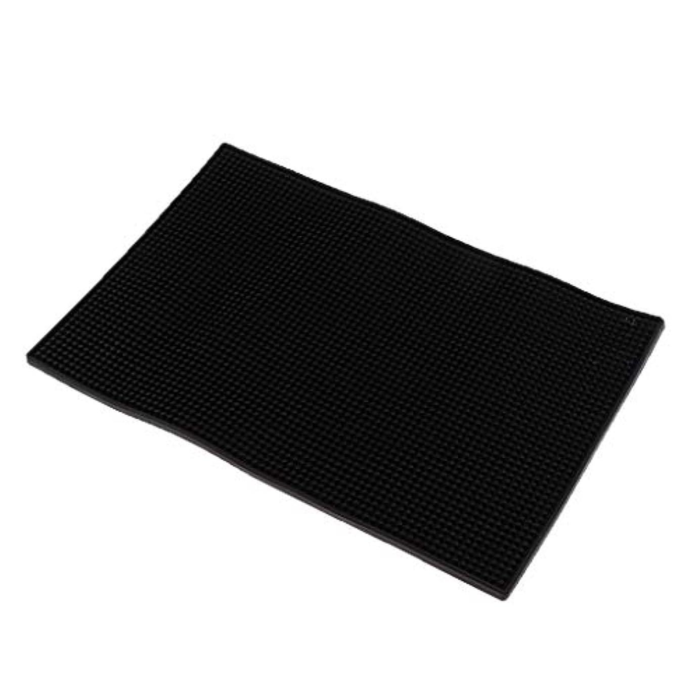 静めるパステル夢Toygogo マニキュアツール ネイルアートクッション ピロー シリコンマット 全3色 - 黒