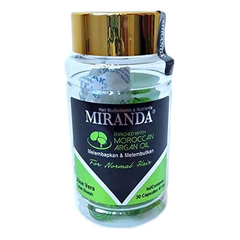 砂のビリーどこにもMIRANDA ミランダ Hair Multivitamin&Nutrients ヘアマルチビタミン ニュートリエンツ 洗い流さないヘアトリートメント 30粒入ボトル Aloe vera アロエベラ [海外直送品]