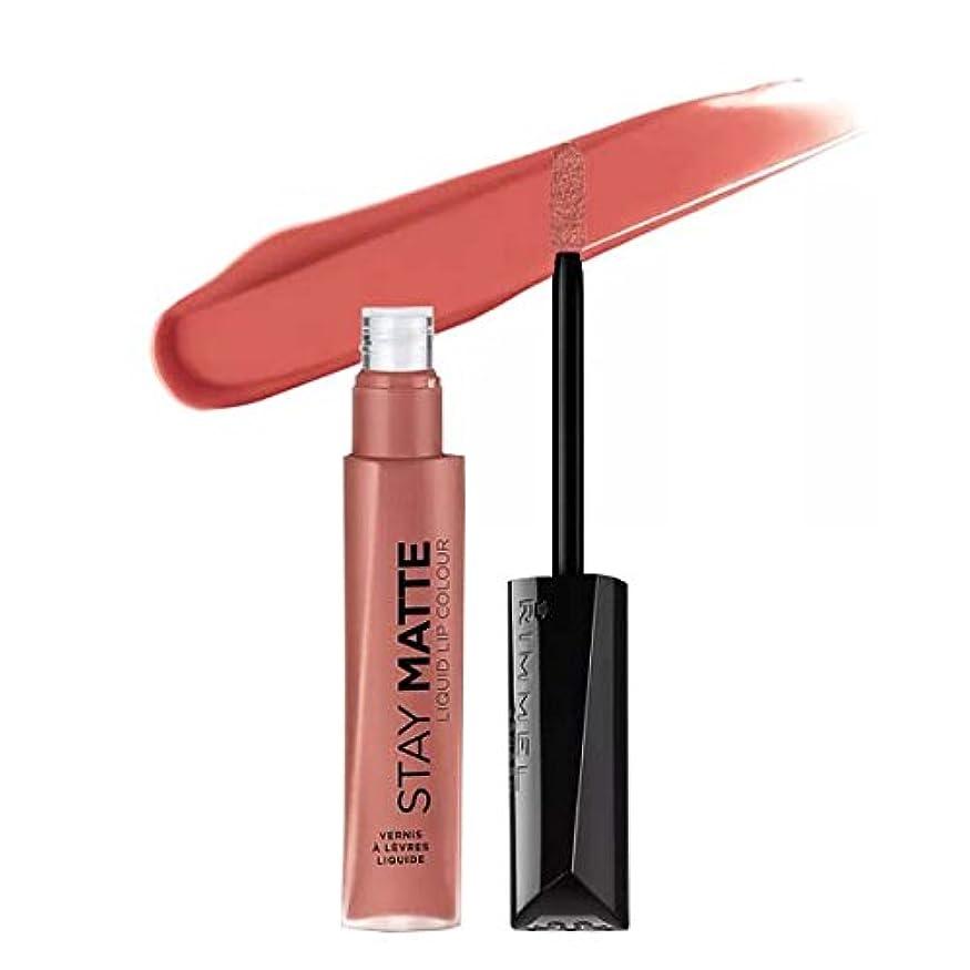 受け入れタンパク質継続中(6 Pack) RIMMEL LONDON Stay Matte Liquid Lip Color - Be My Baby (並行輸入品)