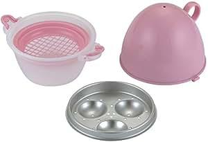 貝印 kai レンジでゆで卵 が作れる 容器 ピンク CoLLe-ii DH-6122