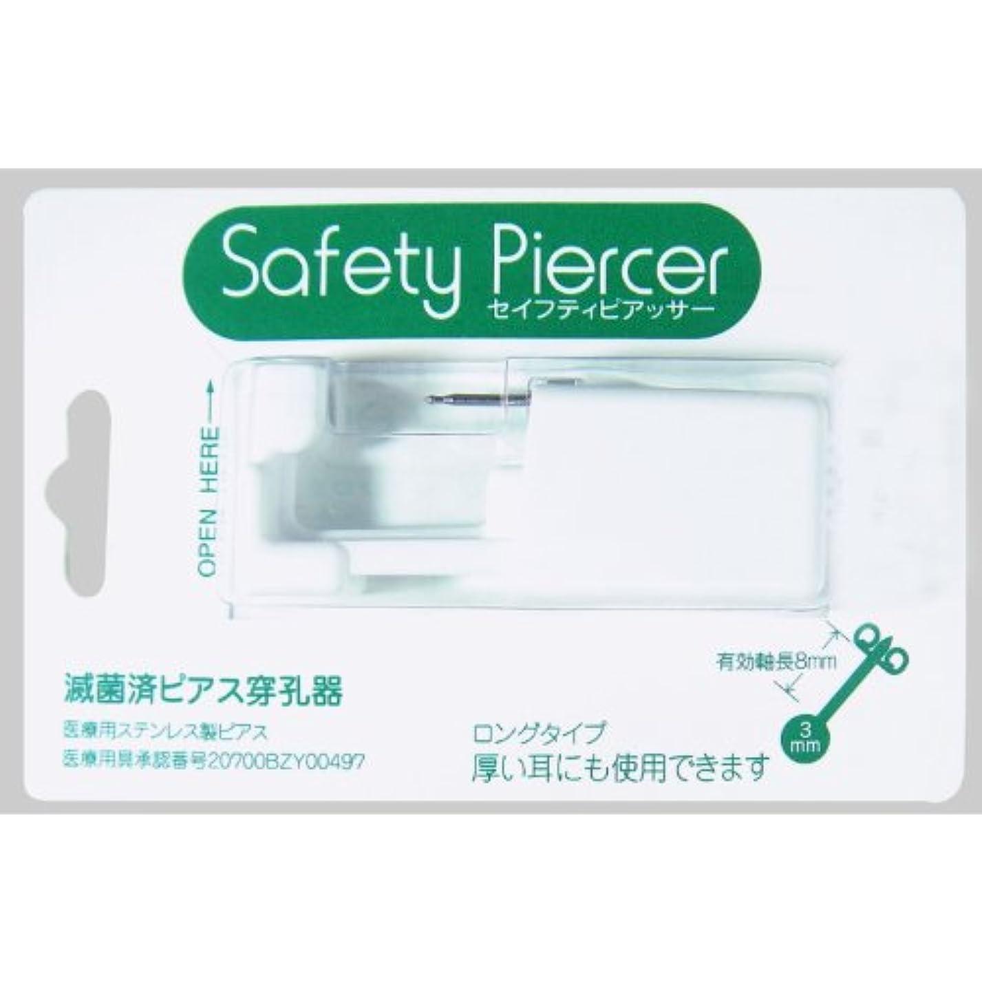 プラスチック中庭神セイフティピアッサー シルバー(医療用ステンレス) 3mm トパーズ色 5M111WL