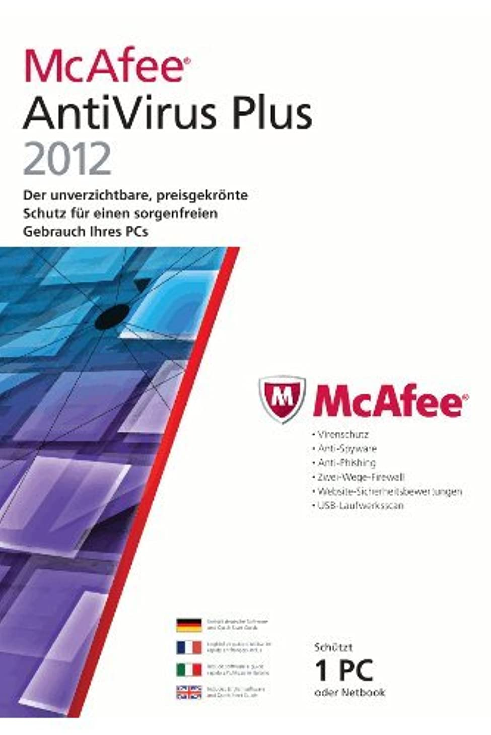 副巻き取り甘美なMcAfee antivirus plus 2012 (1 poste, 1 an) [import allemand]