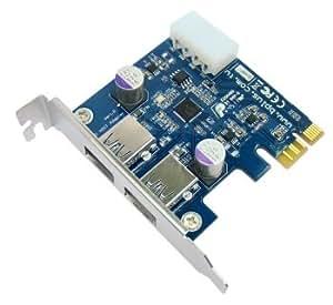 PP2U-E : uPD720202搭載2ポートPCIe2.0-USB3.0拡張ボード ver1.0