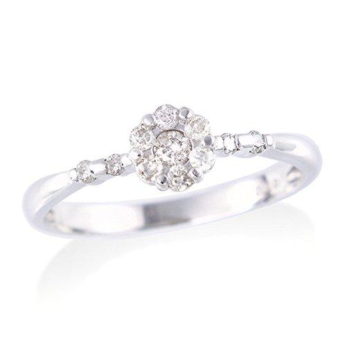 [ジュエリーツツミ]JEWELRY TSUTSUMI K10ホワイトゴールドダイヤモンドリング RFR499 17号