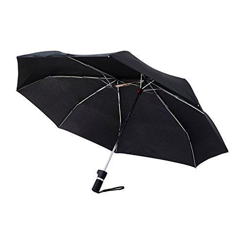 アンファンス 軸をずらした折りたたみ傘 Sharely ブラック 8本骨 55cm EF-UM02BK