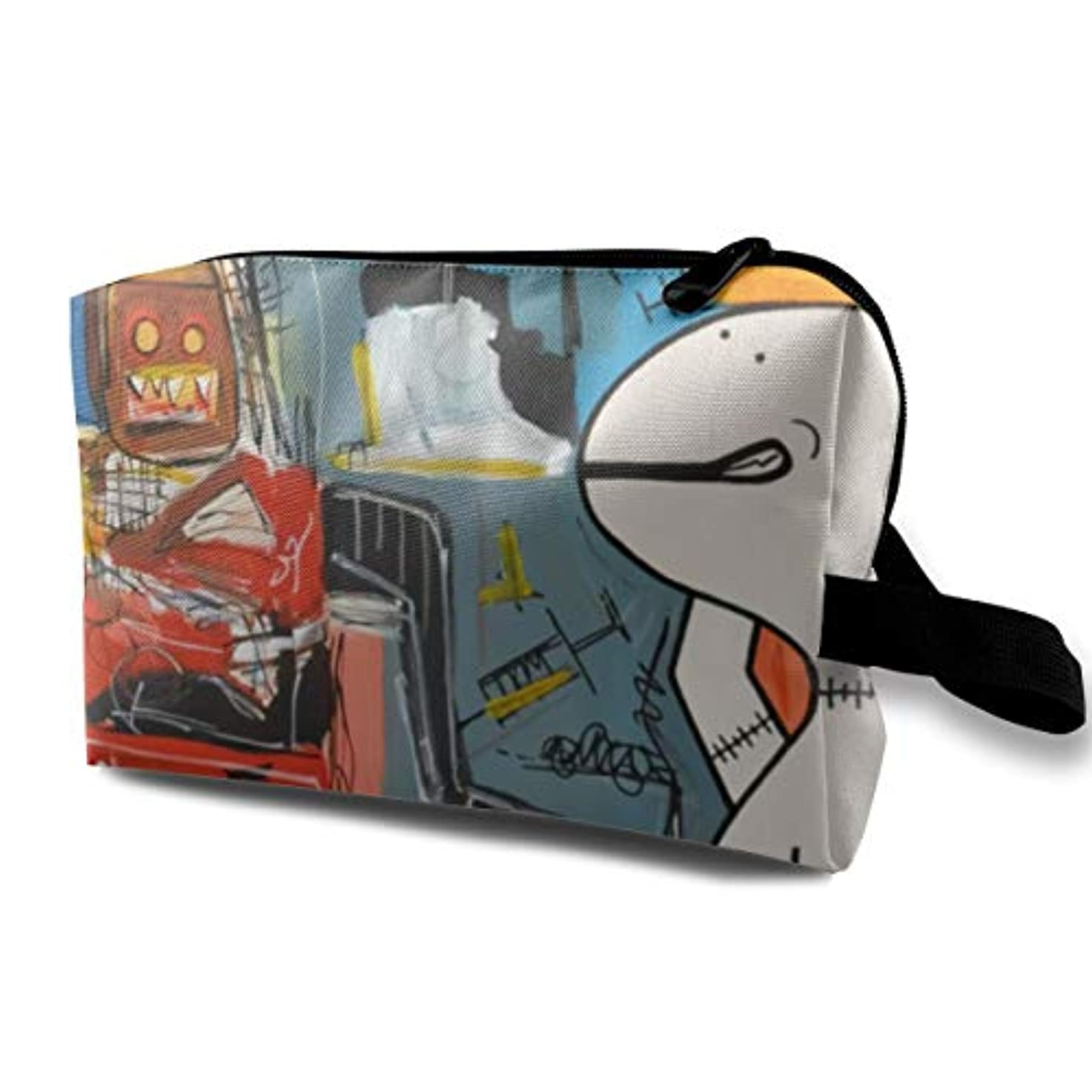 カウンターパート小切手競争力のあるJoycego バスキア ポーチ バッグ 化粧バッグ 収納袋 ジッパー付きポータブル メイクポーチ